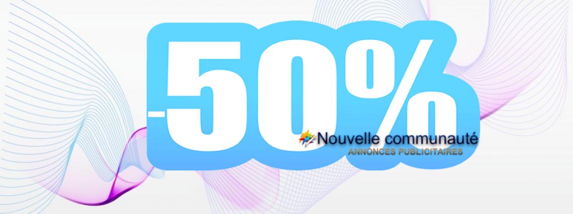 -50% Publicité / Publicity