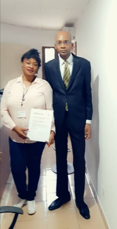 27/06/2019, 11h30 Signature d'un ''Contrat-cadre de collaboration libre'' avec mademoiselle ZEZE Edwige Natacha à notre siège ABIDJAN-WEBSITE-ANIMATION<br />BD Cité Zinsou lot 1412 iLOT 104 Riviera, Abidjan<br />https://maps.app.goo.gl/MQ35muhXrRgvbGGbA
