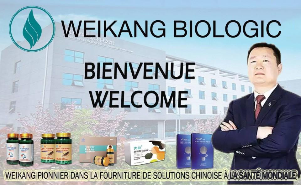 """Crée le 26 Avril 1999, la Première Compagnie classée Numéro 1 en Biotechnologie en Chine dénommée """" WEIKANG BIOLOGIC """" fait son entrée pour la première fois en Afrique et est a la recherche de Distributeurs indépendants et des représentants pays pour ses Produits de Bien être et santé qui contiennent tous la Chitine qui est le 6eme facteur vital et indispensable du corps humain selon OMS.<br /><br />Nous invitons toute les personnes dynamiques et visionnaires à cette méga compagnie Chinoise qui réalise un Chiffre d'affaire annuelle de 10 milliards de RMB soit plus de 850 millards de FCFA.<br /><br />Rejoignez vite la Compagnie Weikang pour être le futur leader de votre pays par un investissement minimum très accessible à tous.<br /><br />SI VOUS VOULEZ EN SAVOIR PLUS SUR LE BUSINESS<br />1. Comment Adhérer?<br />2 .Quels sont les différents Produits disponible?<br />3. Quels sont les différents pack d'adhésion chez Weikang Biologic?<br />4 .Le plan de carrière offre a tous les membres la somme de 750 000 $ que chaque année, c'est super!<br />Weikang Siège Cote d'ivoire, Cocody Angré 8eme tranche a 200 mètres cocovico<br />INFO: +225 57229931 ou 05937713"""